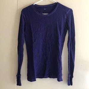 🔴 Purple Gap Blouse T-shirt Top Tee Sweatshirt M